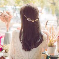 Women Fashion Metal Leaf Head Chain Jewelry Headband Head Piece Hair band Clip