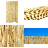 6 ft x 16 ft Outdoor Bamboo Fencing Backyard Garden Reed Fence Tiki Bar 4-Pack