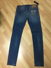 NWD Mens Diesel Sleenker Stretch RIP Denim 085AH BLUE Slim W29 L32 H6 RRP£150