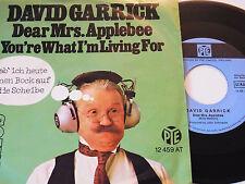 "7"" - David Garrick Dear Mrs. Applebee & You´re what i´m living for # 4502"