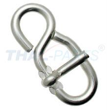 10 Stück Stellacht Stahl verzinkt 80mm x 8mm für Seil bis Ø 18mm Seilacht