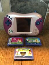Leapfrog Leapster 2 Pink Console with Disney Fairies Princess and Frog Enchanted