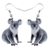 Acrylic Australian Koala Bear Earrings Drop Dangle Animal Jewelry For Women Gift