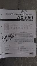 Yamaha ax-550 service manual original repair book stereo amp amplifier