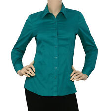 IRON PUPPY L/SLV Button Down Solid Collar Work Office Shirts Skinny Top(S~3XL)