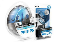 (+ W5W Parkers!) H1 PHILIPS Diamond Vision 5000K White Light Bulbs Headlamp