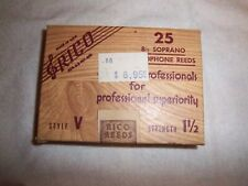 "Rico Vintage ""brown box"" soprano sax reeds #1.5 Sealed box of 25"