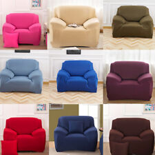 Solid Color Stretch Chair Sofa Cover 1-4 Seater Couch Elastic Slipcover Protect