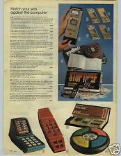 1979 PAPER AD Game System Microvision Block Buster Zodiac Comp IV Merlin Thief