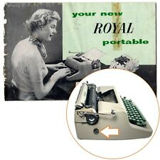 Original ROYAL QUIET de LUXE TYPEWRITER INSTRUCTION MANUAL Antique Vtg Companion