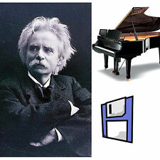 Grieg Classical Solo Piano Collection for Pianodisc PDS128/228 on Floppy Disk.