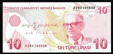 More details for turkey - 10 lira - unc - 2009 - p223a - maths - 9th emission serial: a094 088888