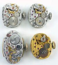 Lot of 4 Ladies Gruen Wristwatch Movements For Parts / Repair.
