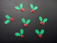 Christmas Holly Punchies - Pkt 50