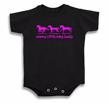 MOMMY'S LITTLE RIDING BUDDY HORSE T SHIRT ONE PIECE BABY INFANT TACK