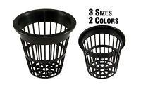 2 Inch Black Slotted Mesh Net Pot for Hydroponics/Aquaponics/Orchids - 100 Pack