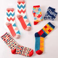 Casual Cotton Socks Design Multi-Color Fashion Dress Men's Women's Socks Hot