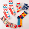 Casual Cotton Socks Design Multi-Color Fashion for Men's Women's Socks Warm AU