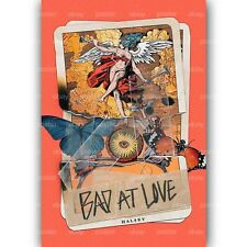 Halsey Bad at Love New Custom Silk Poster Wall Decor 20x13 Inch