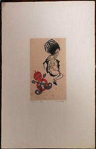 GIUSEPPE GUERRESCHI incisione ROMA 1974 70x50 firmata numerata 58/100
