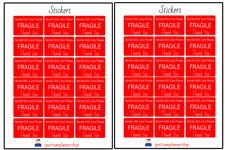 Fragile, Shipping Stickers, Store , envelope label red, Shipping Supply 36