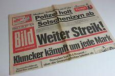 BILDzeitung 13.02.1974 Februar Umschlagsseiten / 4 Seiten   Jusos Streik