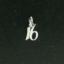 RETIRED James Avery 16 Sixteen Sterling Silver Charm