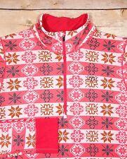 Helly Hansen Women's Striped Snowflake 1/2 Zip Pink Sweater Size M