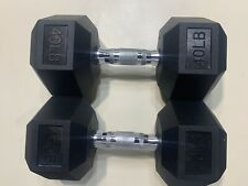 Weider Rubber Hex Dumbbell Set 40 lb Pound Weights 80 lb Total IN HAND!