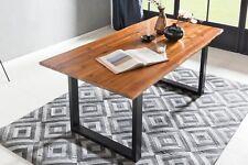 Esstisch Baumkante 180 x 90 cm Akazie cognac Tischbeine schwarz NEU/OVP MARTA