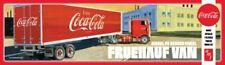 Fruehauf Van Coca Cola Enclosed Trailer AMT 1109 1/25 Scale Plastic Model Kit