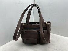FOSSIL 75082 Medium BROWN LEATHER MULTI COMPARTMENT CROSSBODY SHOULDER BAG