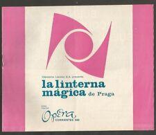 Programme Opera Teather La Linterna Magica De Praga 1970