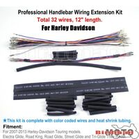 """32 Wires Handlebar 12"""" Wiring Harness Extension Kit For Harley Touring FLH 07-13"""