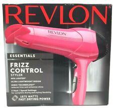 Revlon Essentials Frizz Control Lightweight Styler Hair Dryer 1875 Watts - Pink