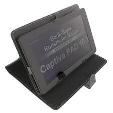 Bag for Captiva Pad 10.1 Bookstyle Tablet Bag Protection Holder Black