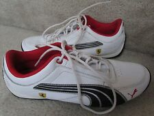 Puma Drift Cat 4 L S Ferrari White Sneakers 304298 01 Sz 5.5 EUC