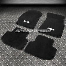 FOR 94-01 ACURA INTEGRA DC2 LOGO NYLON BLACK FLOOR MATS/PLUSH CARPET FRONT+REAR
