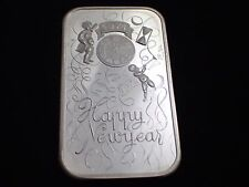 1974 Happy New Year Silver Art Bar Madison Mint. 1 oz .999 Pure Silver,