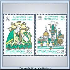 Vaticano 1993 Giovanni Nepomuceno n. 967/968 Integri **