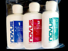 Novus Plastic Polish Kit  for Acrylic Aquarium Scratch Removal Polish 2oz each