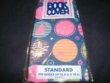 1 Standard Hippie Peace Flower Power Book Cover Stretchable Fabric Sox sock