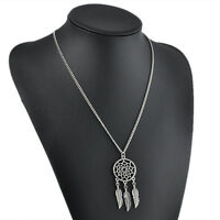 Vintage Dream Catcher Wings Charm Pendant Long Sweater Chain Necklace Jewelry HS
