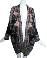 BIYA for JOHNNY WAS Embroidered  Ito Kimono Jacket Coat NWT Sz M/One Size