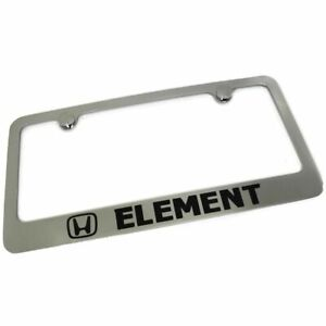 Honda Element License Plate Frame Number Tag Rotary Engraved Chrome Plated Brass