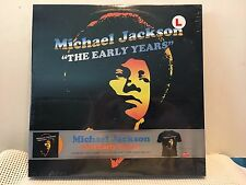 MICHAEL JACKSON The Early Years LP Boxed Color Vinyl T Shirt LARGE SEALED