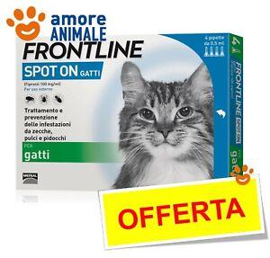 Frontline Spot On Gatto - 4 pipette - Antiparassitario Antipulci per gatti ^^