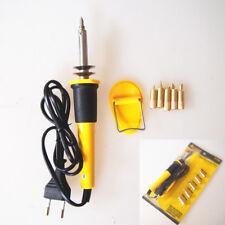 7X Profesional Soldering Iron Pen Kit Wood Burning Burner Tool Set w/ Tips 220V