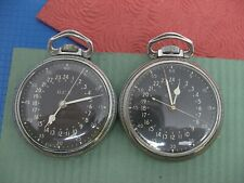 For The Collector, 2-Watches! Running! Hamilton 4992B Military Pocket Watches
