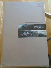 Audi S6 quattro Saloon & Avant range brochure Oct 1999